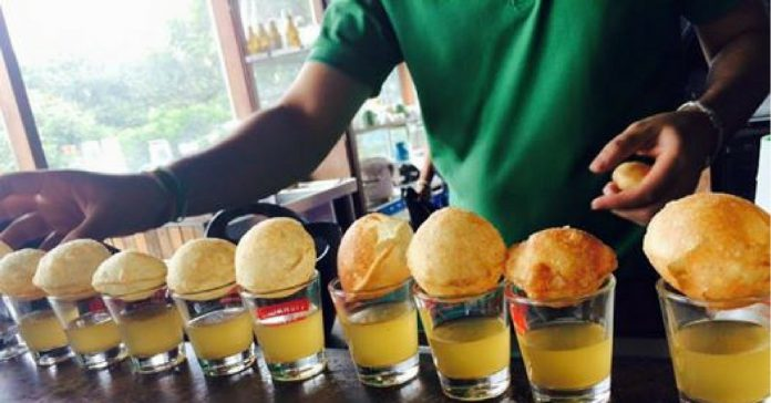 vodka golgappa