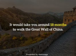 facts about the great wall of china