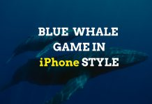 iPhone version of Blue Whale Game