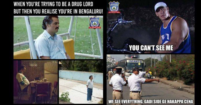 Bengaluru city police memes