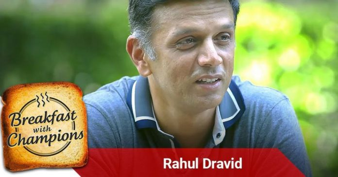 breakfast with champions rahul dravid